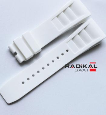 Richard Mille Vidalı Beyaz Renk Silikon Saat Kordonu