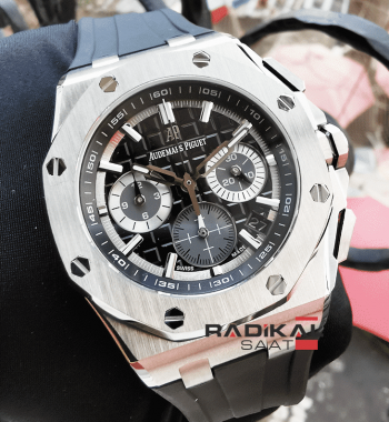 Audemars Piguet Royal Oak Offshore New Model Siyah Kadran Replika Erkek Kol Saati