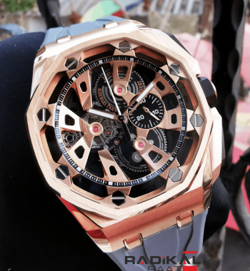 Audemars Piguet Royal Oak Offshore Consept Rose Kasa Gri Kordon Replika Erkek Kol Saati