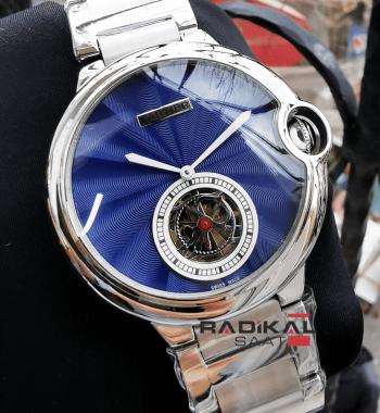 Cartier Ballon Blue Mavi Kadran Otomatik Mekanizma Replika Erkek Kol Saati