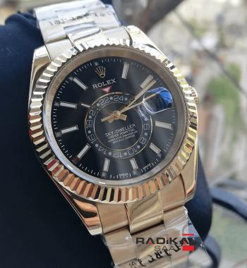 Rolex Sky Dweller Gold Kasa Siyah Kadran Erkek Kol Saati
