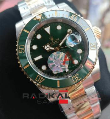 Replika Rolex Saat-Rolex Submariner Yeşil Kadran Yeşil Besel