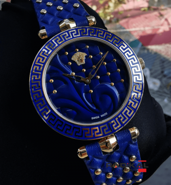 Versace Vanitas Mavi Kadran Replika Bayan Kol Saati