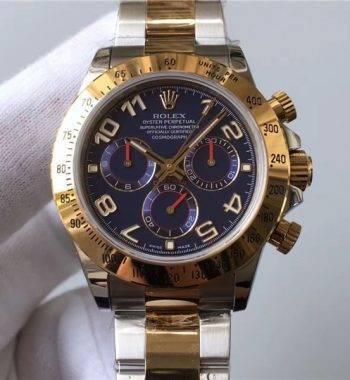 Rolex Daytona Mavi Kadran Swiss Eta 4130 Mekanizma