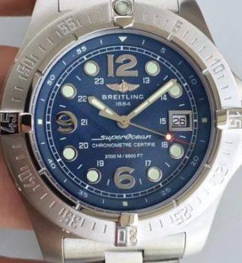 Breitling Mavi kadran Paslanmaz Çelik Profesyonel Seri ETA 2824-2 Mekanizma