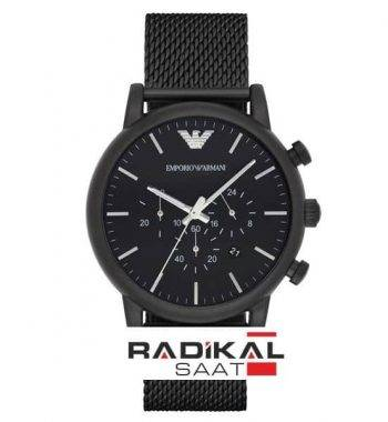 EMPORIO ARMANI Chronograph Siyah Men's Watch