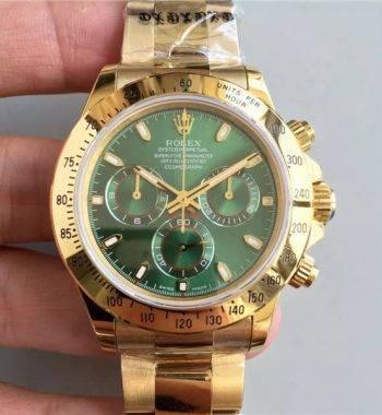 Rolex Cosmograph Daytona Swiss Eta 4130 Mekanizma Yeşil Seri 116508