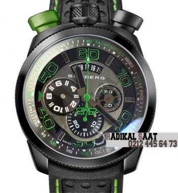 Boomberg Black PVD Green Swiss Quartz