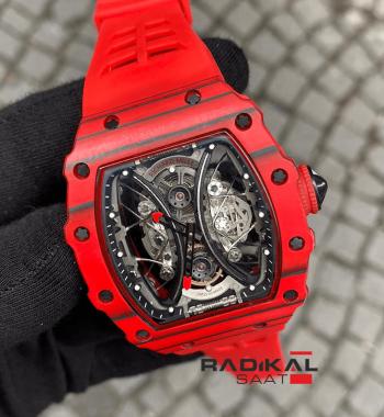 Richard Mille Pablo Mac Donough RM 53-01 Carbon Kırmızı Kasa A-1826 Otomatik Mekanizma