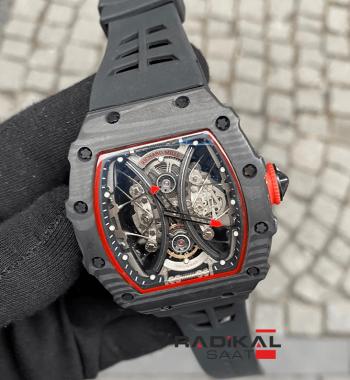 Richard Mille Pablo Mac Donough RM 53-01 Siyah Carbon Kasa Otomatik Mekanizma