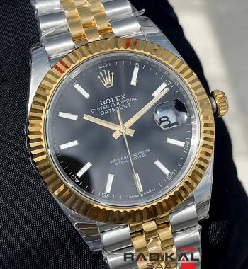 Rolex DateJust 41 126333 904L Siyah Kadran Jubilee Kordon VS3235 ETA