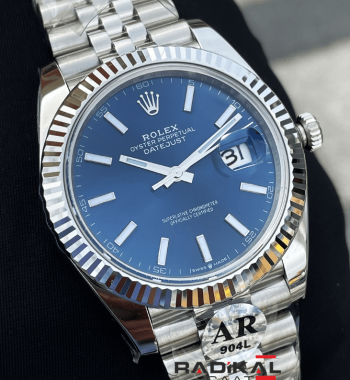 Rolex DateJust 41 Mavi Kadranlı Jubile Kordon 3235 ETA