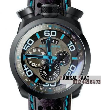Boomberg Black PVD Blue Swiss Quartz