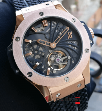 Hublot Big Bang Rose Kasa Tourbillon Mekanizma