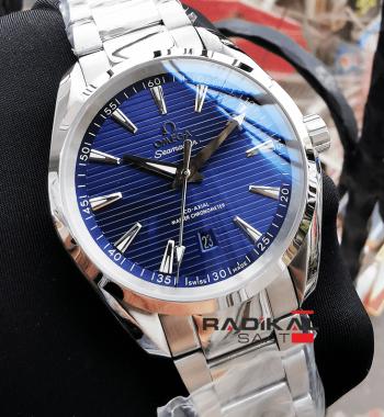 Omega Seamaster Aqua Terra Co-Axıal Mavi Kadran Çelik Kasa Replika Erkek Kol Saati