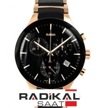 RADO-Centrix Siyah Kadran Two-Tone Kordon