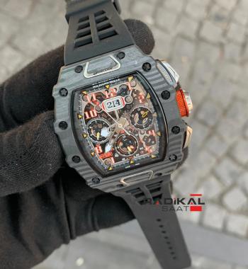 Richard Mille RM11-03 Carbon Siyah Kasa Replika Erkek Kol Saati