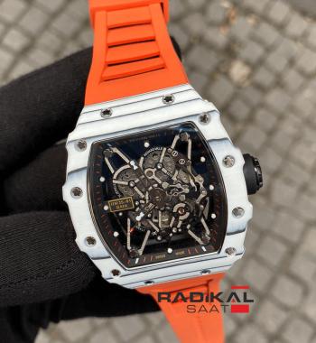 Richard Mille RM 35-01 Rafa Turuncu Kordon İskelet Kadran Replika Erkek Kol Saati
