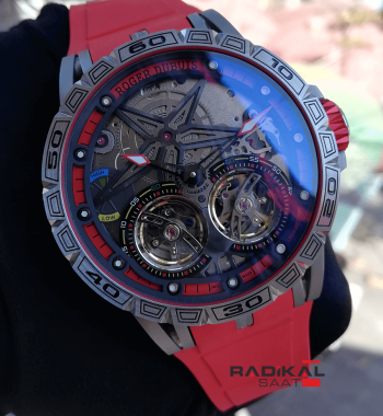 Roger Dubuis Excalibur Spider Pirelli Flying Double Tourbillon Replika Erkek Saati