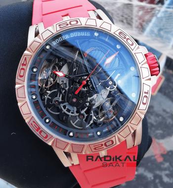 Roger Dubuis Excalibur Horloger Aventador Rose Kasa Replika Erkek Kol Saati