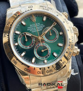 Rolex Cosmograph Daytona Gold Yeşil 4130 1.1 Clon ETA