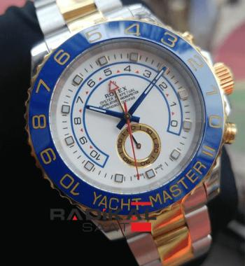 Replika Rolex-Rolex Yacht-Master II Mavi Besel White Dial