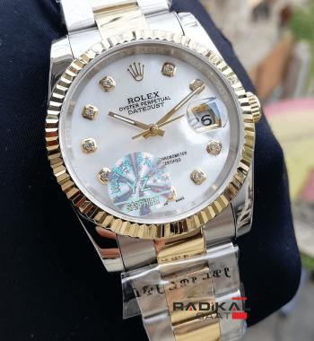Rolex Datejust 36 MM Tırtıklı Sarı Besel Replika Bayan Kol Saati