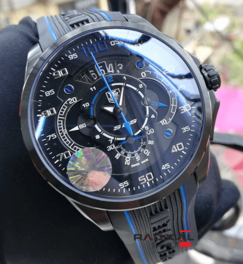 Tag Heuer Replika Grand Carrera Mercedes-Benz SLS Pvd Kasa Mavi Saniye