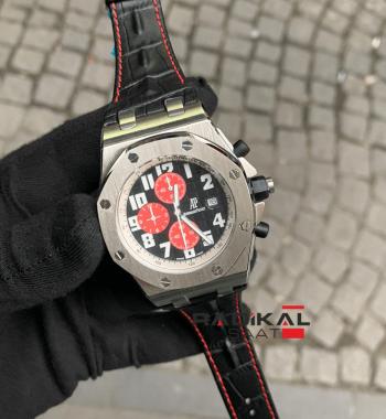 Audemars Piguet Royal Oak Kronograf Kırmızı Kadran Replika Erkek Kol Saati