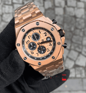 Audemars Piguet Royal Oak Rose Kasa Replika Erkek Kol Saati