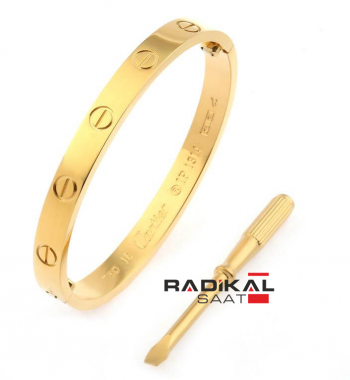 Cartier Love 16mm Gold Taşşız Bayan Bileklik