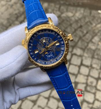 Patek Philippe Grand Complications İşlemeli Sarı Kasa Replika Erkek Kol Saati