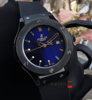 Hublot Big Bang 37 mm Mavi Kadran Replika Bayan Kol Saati