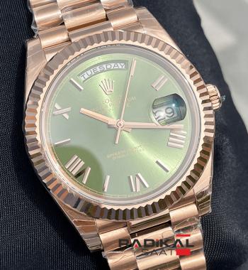 Rolex Day Date 228235 Yeşil Kadran 3255 1:1 Super Clone ETA