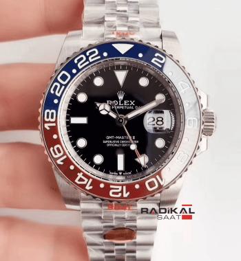 Rolex GMT-Master II Pepsi Yeni Jubile Kordon 3186 1.1 Clone ETA