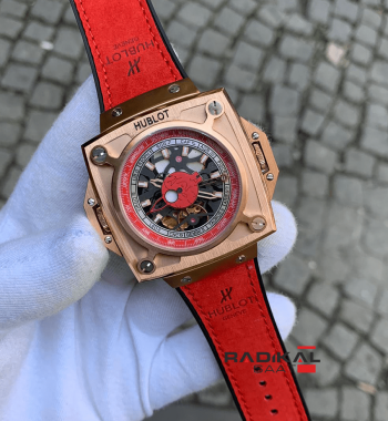 Hublot Antikythera SunMoon MP-08 Rose Kasa Replika Erkek Kol Saati