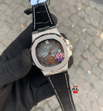 Patek Philippe Nautilus Gri Kadran 40mm Replika Erkek Kol Saati