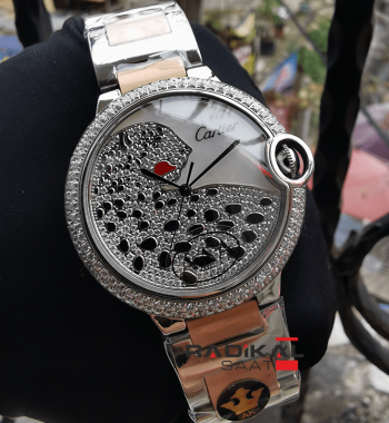 Cartier Ballon Bleu New Model Silver Kasa Replika Bayan Kol Saati