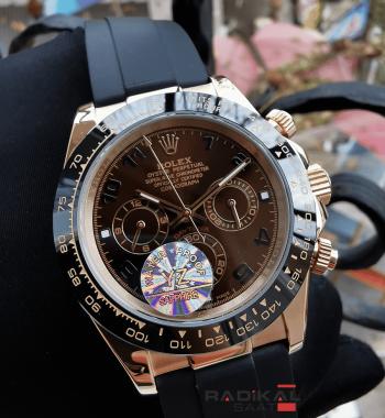 Rolex Cosmograph Daytona Kahve Rengi Kadran Replika Erkek Kol Saati
