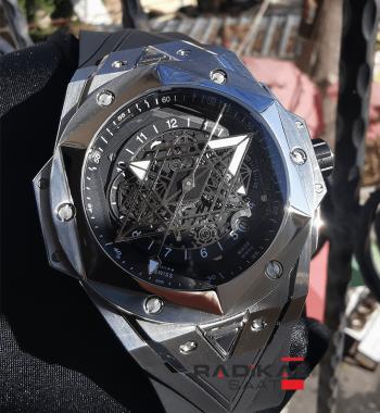 Hublot Big Bang Unico Sang Bleu II Silver Kasa Replika Erkek Kol Saati