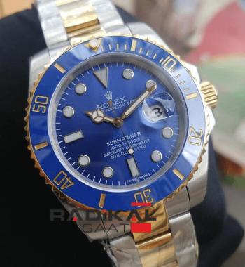 Rolex Submariner Mavi Kadran Replika Erkek Kol Saati