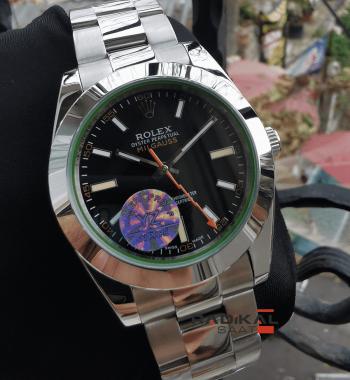 Rolex Milgauss Siyah Kadran Replika Erkek Kol Saati