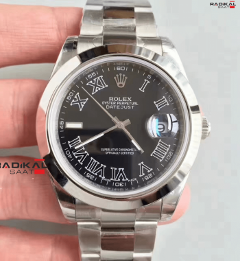 Swiss ETA-Rolex Oyster DATEJUST BLACK Kadran 3136 ETA