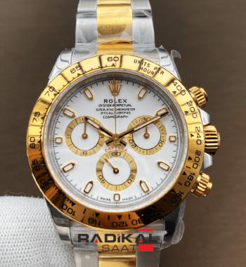 Rolex Daytona 116503 YG / SS Two Tone Noob Edition 904L Beyaz Kadran SA4130 ETA