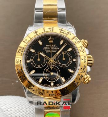 Rolex Daytona 116503 YG / SS Two Tone Noob Edition 904L Siyah Kadran SA4130 ETA