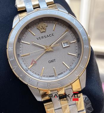 Versace Gmt Gri Kadran İnce Kasa Replika Erkek Kol Saati