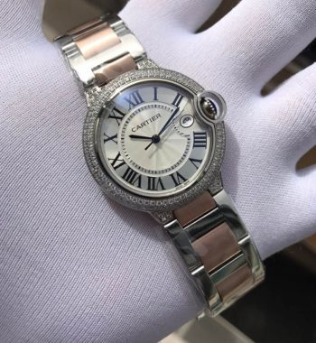 Swarovski Taşlı Cartier Bayan Kol Saati