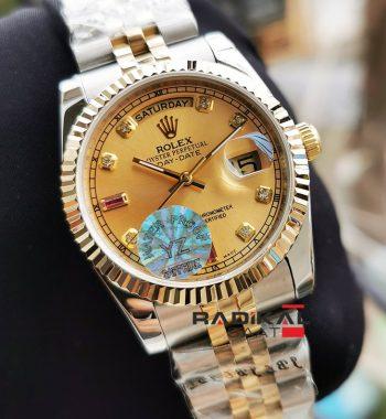 Rolex Day-Date 36 MM Taşlı Kadran Jubile Kordon Replika Bayan Kol Saati