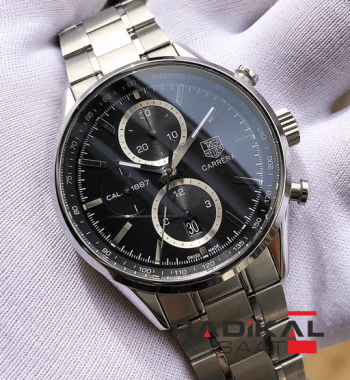 Tag Heuer Carrera Calibre 1887 Stainless Steel Black Dial Swiss-1887