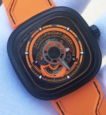 SevenFriday Kuka-3 Orange Otomatik Erkek Kol Saati Orjinal Mekanizma